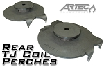 Rear TJ coil Perches and retainers (pair)