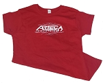 Women's Artec T-Shirt - Red with White Artec and Crest on Rear
