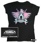 Women's Artec T-Shirt - Black with Pink Artec Crest