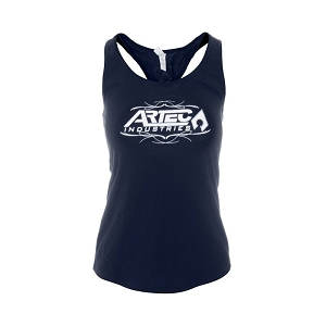 Artec Women's Racerback Tank Top Shirt - Navy/White