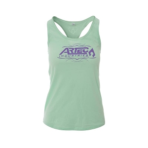Artec Women's Racerback Tank Top Shirt - Mint/Purple