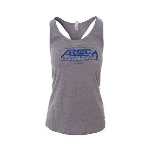 Artec Women's Racerback Tank Top Shirt - Grey/Blue
