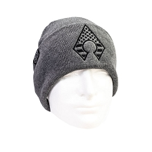 Grey Beanie with A-blade Flag Logo