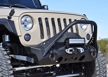 Nighthawk JK Front Bumper with Mid Tube Stinger