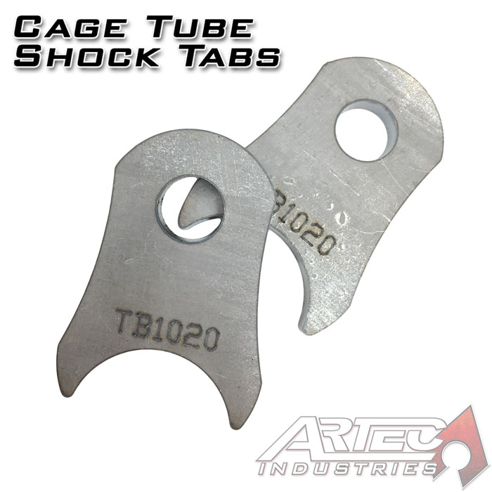 Cage Tube Shock Tabs (pair)