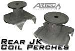 Rear JK Coil Perches and retainers (pair)
