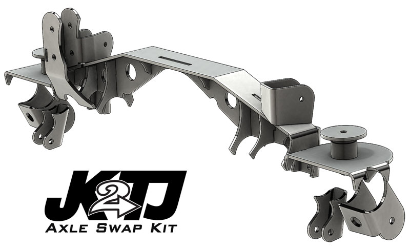 Artec Industries JK2TJ Rear Axle Swap Kit with Truss