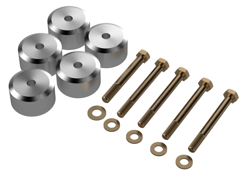 TJ Aluminum Body Mount Spacer Kit