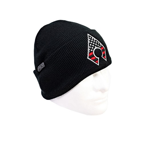 Black Beanie with A-blade Flag Logo