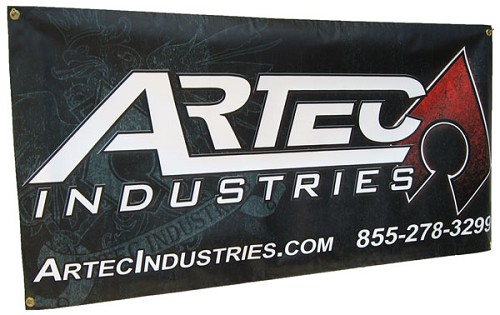 "Artec Industries Banner - 24""x 48"""